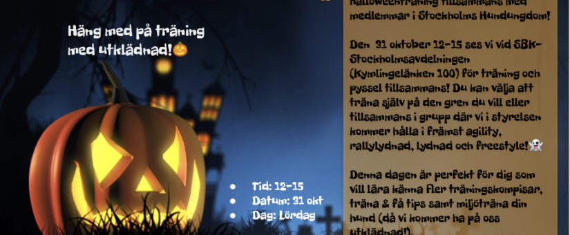 Halloweenträning! (FULL)
